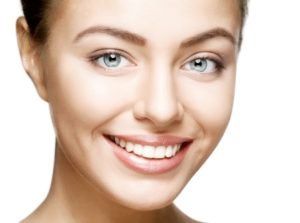 beautiful woman smile. teeth whitening. dental care.